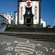 Church In The Azores Poster