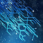Circuit Board Technology Poster by Setsiri Silapasuwanchai