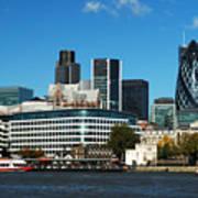 City Of London Skyline Poster