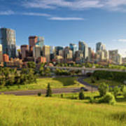 City Skyline Of Calgary, Canada Poster