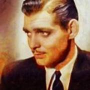 Clark Gable, Vintage Hollywood Actor Poster
