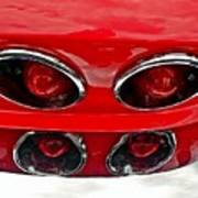Classic Car Tail Lights Poster