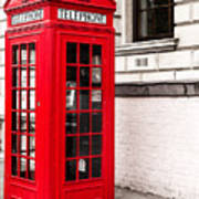 Classic Red London Telephone Box Poster