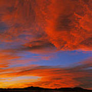 Clouds In The Sky At Sunset, Taos, Taos Poster