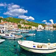 Coastal Town Of Hvar Waterfront Panorama Poster