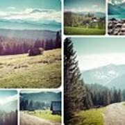 Collage Of Tatra Mountains Poster