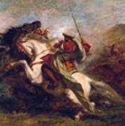 Collision Of Moorish Horsemen Poster