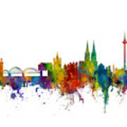 Cologne Germany Skyline Poster