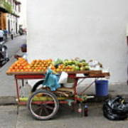 Colombia Fruit Cart Poster