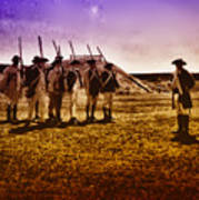 Colonial Soldiers At Fort Mifflin Poster