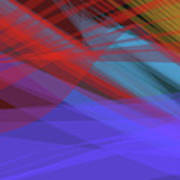Colorful Abstract Vector Background Banner, Transparent Wave Lin Poster