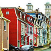 Colorful Houses In St. Johns In Newfoundland Poster