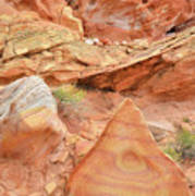 Colorful Wash 3 In Valley Of Fire Poster