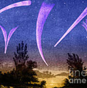 Comets In Night Sky Poster