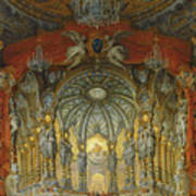 Concert Given By Cardinal De La Rochefoucauld At The Argentina Theatre In Rome Poster