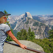 Contemplating Glacier Point Poster