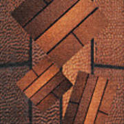 Copper Plate Abstract Poster