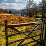 Countryside Gate Poster