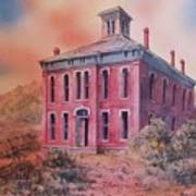 Courthouse Belmont Ghost Town Nevada Poster