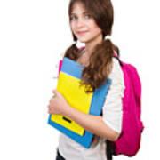 Cute Schoolgirl Portrait Poster
