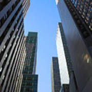Dark Manhattan Skyscrapers Poster