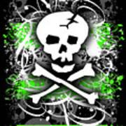 Deathrock Skull Poster