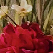 Decorative Mixed Media Floral A3117 Poster
