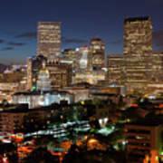 Denver Evening Skyline Poster