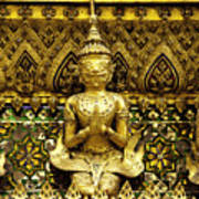 Detail From A Buddhist Temple In Bangkok Thailand Poster