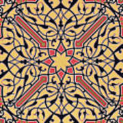 Detail Of Ceiling Arabesques From The Mosque Of El-bordeyny Poster