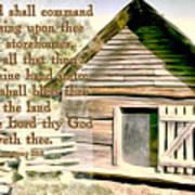Deuteronomy 28 8 Poster