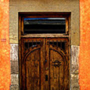 Door In Terracotta Poster