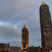 Downtown Cleveland At Dusk Poster