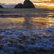 Dramatic Sunset Oregon Coast Usa Poster