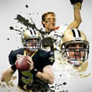 Drew Brees Saints Poster