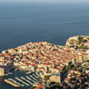 Dubrovnik And The Adriatic Coast In Croatia Poster