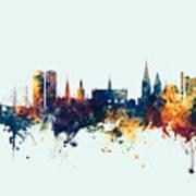 Dundee Scotland Skyline Poster