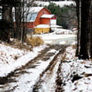 Early Winter Barn Poster