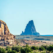 El Capitan Peak Just North Of Kayenta Arizona In Monument Valley Poster