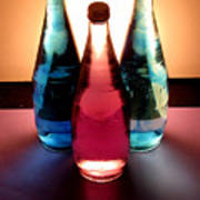 Electric Light Through Bottles Poster