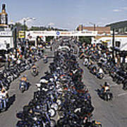 Elevated Panoramic View Of Main Street Poster