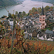Elevated View Of Bacharach Poster