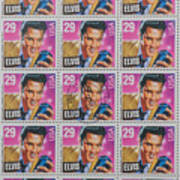 Elvis Commemorative Stamp January 8th 1993 Painted Poster