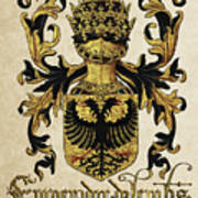Emperor Of Germany Coat Of Arms - Livro Do Armeiro-mor Poster by Serge Averbukh