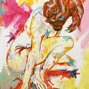 Female Nude Figure Study Poster