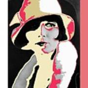 Film Homage Louise Brooks In Flapper Hat 1927-2013 Poster