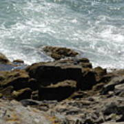 Fine Art Water And Rocks Poster