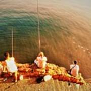 Fishermen In Beirut  Poster