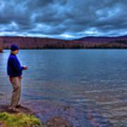 Fishing Limekiln Lake Poster