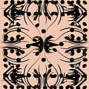 Flora Feline Blush Poster